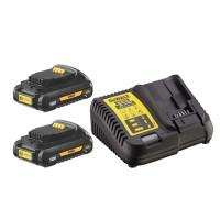Зарядное устройство DeWALT DCB115 с двумя аккумуляторами DCB187