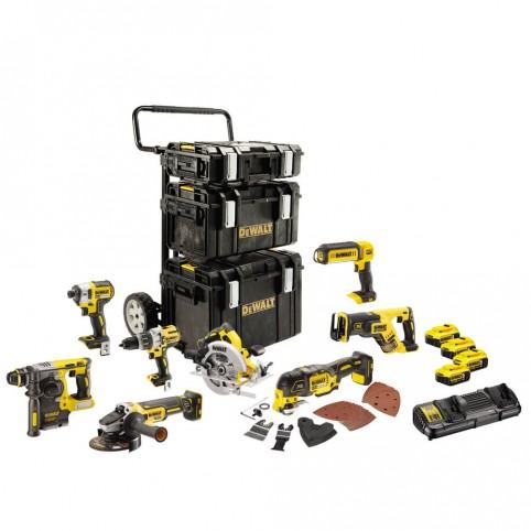 Набор из восьми аккумуляторных бесщеточных инструментов DeWALT DCK853P4