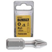 Набор бит торсионных Pz1 25мм DeWALT DT7211