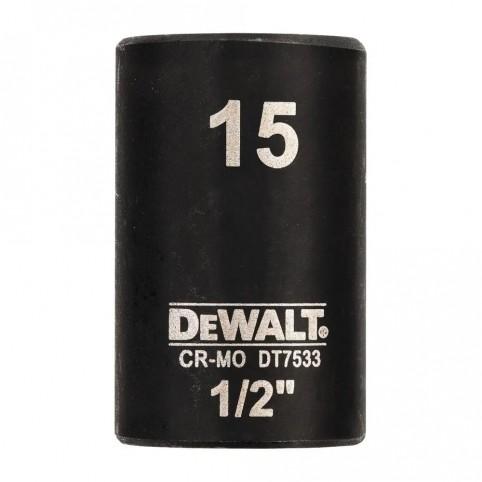 Головка торцевая ударная короткая IMPACT DeWALT DT7533
