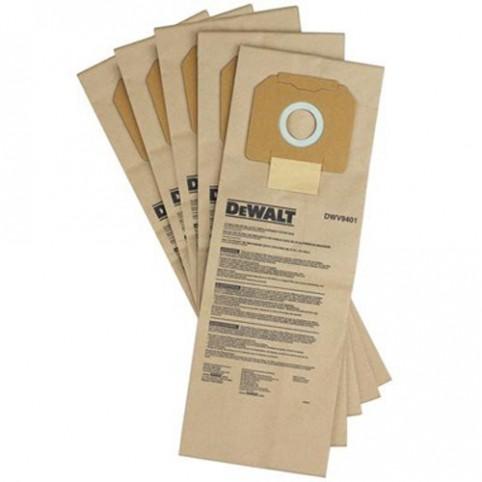 Мешки одноразовые бумажные для пылесоса DWV902L DeWALT DWV9401